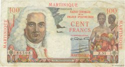 100 Francs La Bourdonnais MARTINIQUE  1946 P.31a TB+