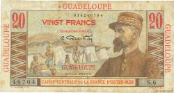 20 Francs Émile Gentil GUADELOUPE  1946 P.33 TB