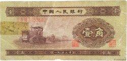 1 Jiao CHINE  1953 P.0863 B