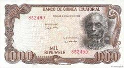 1000 Bipkwele GUINÉE ÉQUATORIALE  1979 P.16 pr.NEUF