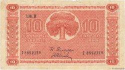 10 Markkaa FINLANDE  1945 P.085 TB