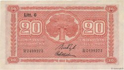 20 Markkaa FINLANDE  1922 P.063a TTB+