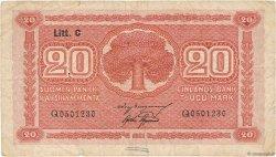 20 Markkaa FINLANDE  1922 P.063a TB