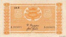 5 Markkaa FINLANDE  1922 P.084 pr.SUP