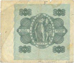 100 Markkaa FINLANDE  1945 P.080a TB