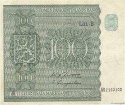 100 Markkaa FINLANDE  1945 P.088 pr.TTB