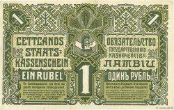 1 Rublis LETTONIE  1919 P.02b NEUF