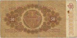 50 Korun TCHÉCOSLOVAQUIE  1919 P.010a B