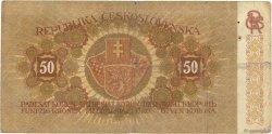 50 Korun TCHÉCOSLOVAQUIE  1919 P.010a B+
