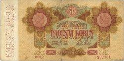 50 Korun TCHÉCOSLOVAQUIE  1919 P.010a TB