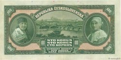 100 Korun TCHÉCOSLOVAQUIE  1920 P.017a TTB+