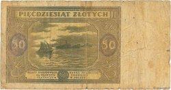 50 Zlotych POLOGNE  1946 P.128 B