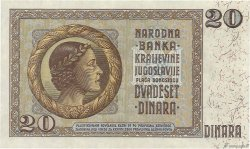 20 Dinara YOUGOSLAVIE  1936 P.030 SUP