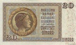 20 Dinara YOUGOSLAVIE  1936 P.030 SPL