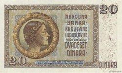 20 Dinara YOUGOSLAVIE  1936 P.030 NEUF