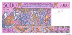 5000 Francs - 1000 Ariary MADAGASCAR  1995 P.78a NEUF