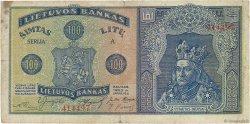 100 Litu LITUANIE  1922 P.20a B+