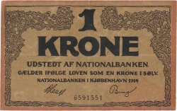 1 Krone DANEMARK  1914 P.011 TTB+
