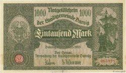 1000 Mark DANTZIG  1923 P.16 TTB+