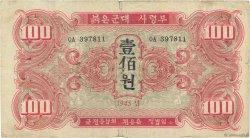 100 Won CORÉE DU NORD  1945 P.04a pr.TB