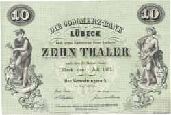 10 Thaler ALLEMAGNE  1865 PS.0311r pr.NEUF