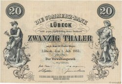 20 Thaler ALLEMAGNE  1865 PS.0312r pr.NEUF