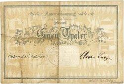 1 Thaler ALLEMAGNE  1854 P.- TTB