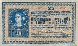 25 Kronen AUTRICHE  1918 P.023 SUP