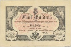 5 Gulden AUTRICHE  1866 P.A151a pr.SUP