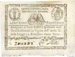 10 Paoli ITALIE  1798 PS.540b pr.SPL