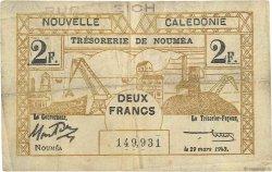 2 Franc NOUVELLE CALÉDONIE  1943 P.56a TTB