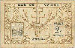 2 Franc NOUVELLE CALÉDONIE  1943 P.56b pr.TTB