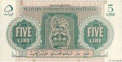 5 Lire LIBYE  1943 P.M3a SUP