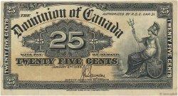 25 Cents CANADA  1900 P.009c TTB+