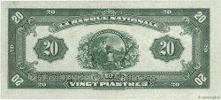 20 Dollars - 20 Piastres CANADA  1922 PS.0873s pr.NEUF