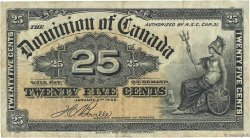 25 Cents CANADA  1900 P.009b TB+