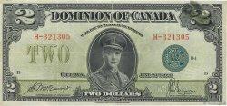2 Dollars CANADA  1923 P.034d TTB