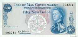 50 New Pence ÎLE DE MAN  1969 P.27a SPL