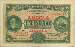 1 Escudo ANGOLA  1921 P.055 TTB