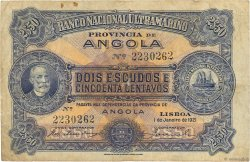 2,5 Escudos ANGOLA  1921 P.056 TB+