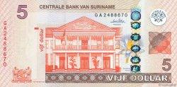 5 Dollars SURINAM  2010 P.162a NEUF