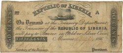 50 Cents LIBERIA  1863 P.06c pr.TB
