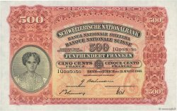 500 Francs SUISSE  1946 P.36e SUP+ à SPL