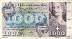 1000 Francs SUISSE  1958 P.52b pr.TTB