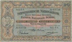 20 Francs SUISSE  1927 P.33d TB
