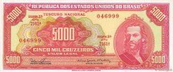 5000 Cruzeiros BRÉSIL  1965 P.182A SPL