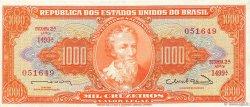 1000 Cruzeiros BRÉSIL  1963 P.181 SPL