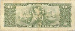 1 Centavo sur 10 Cruzeiros BRÉSIL  1967 P.183b TB