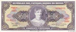 5 Centavos sur 50 Cruzeiros BRÉSIL  1967 P.184b SPL