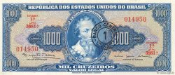 1 Cruzeiro Novo sur 1000 Cruzeiros BRÉSIL  1966 P.187a SPL